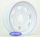 13 inch White Spoke Trailer Wheel 5 Lug