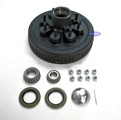 8 Bolt Trailer Brake Drum Hub Fits 7,000lb Axles 8 Lug on 6 1/2