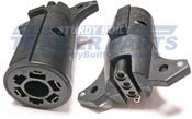 7RV Spade (Vehicle side) to 4 Flat (Trailer side) Connector Adapter