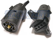 7RV (Vehicle Side) to 5 Flat (Trailer Side) Connector Adapter