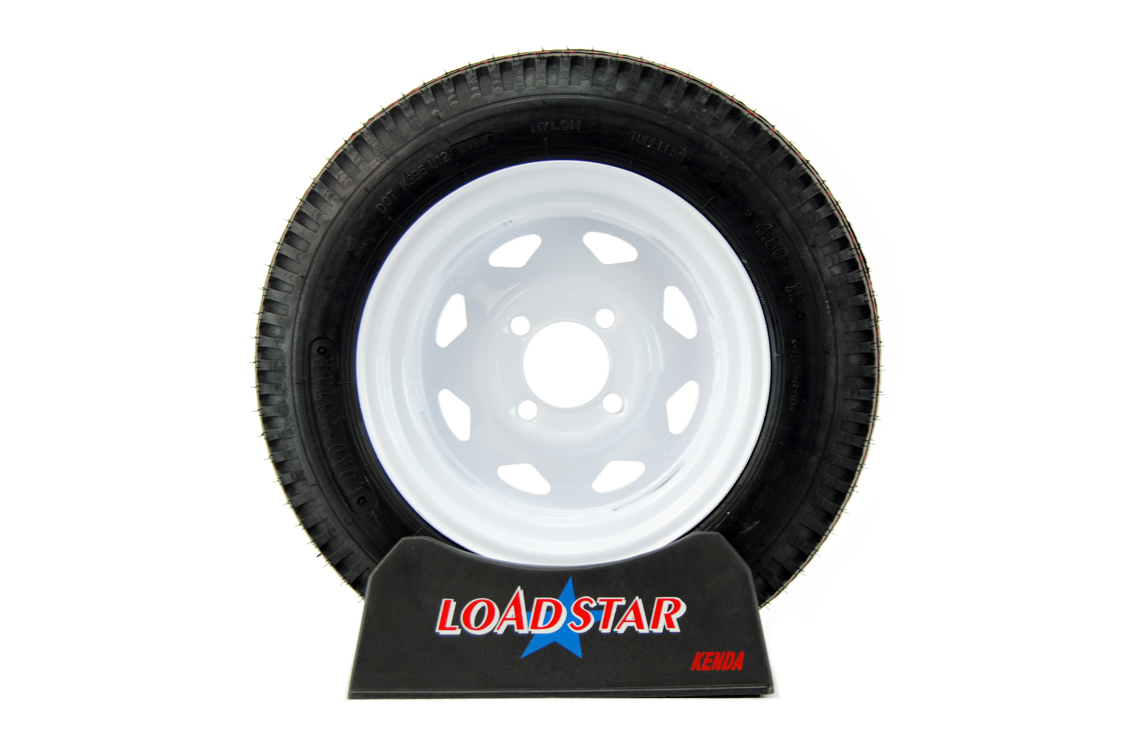 12 inch White Painted Wheel and Tire