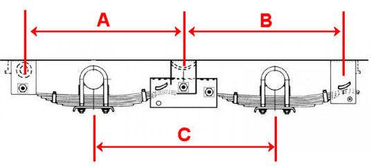 Tandem axle trailer leaf spring hanger kit for quot hd