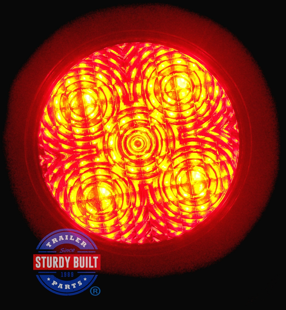 Led round red trailer light 4 inch sealed recessed mount trailer parts on clearance aloadofball Images