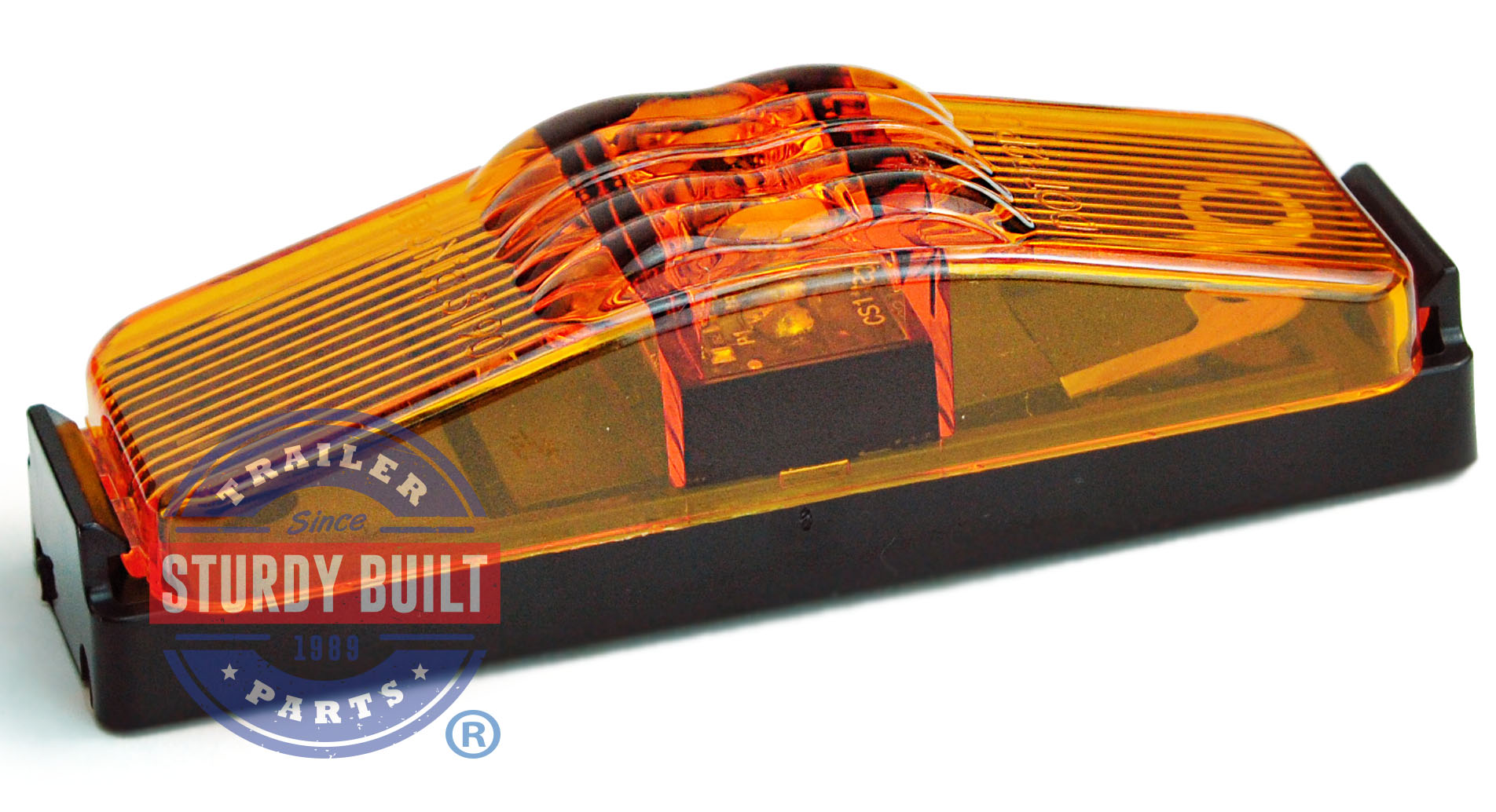 Led Sidemarker Trailer Light Kit Amber Submersible 1 Inch X 4 Together With Wiring Categories Boat And Marine Products