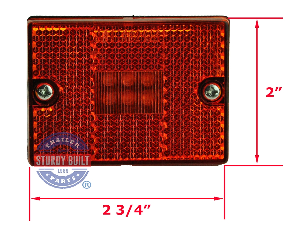 Led Side Marker Trailer Light Amber Submersible Single Stud Wiring Lights By Optronics Mcl 36ab