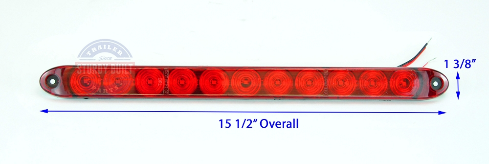 Red led id light bar submersible waterproof stop turn and tail operation trailer parts on clearance mozeypictures Choice Image