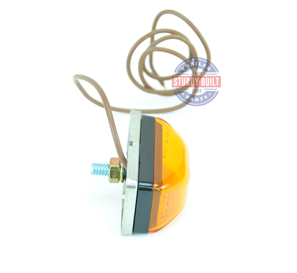 Side Marker Light Led Amber Submersible Single Stud Wiring A Trailer With Lights By Optronics Mcl95ab