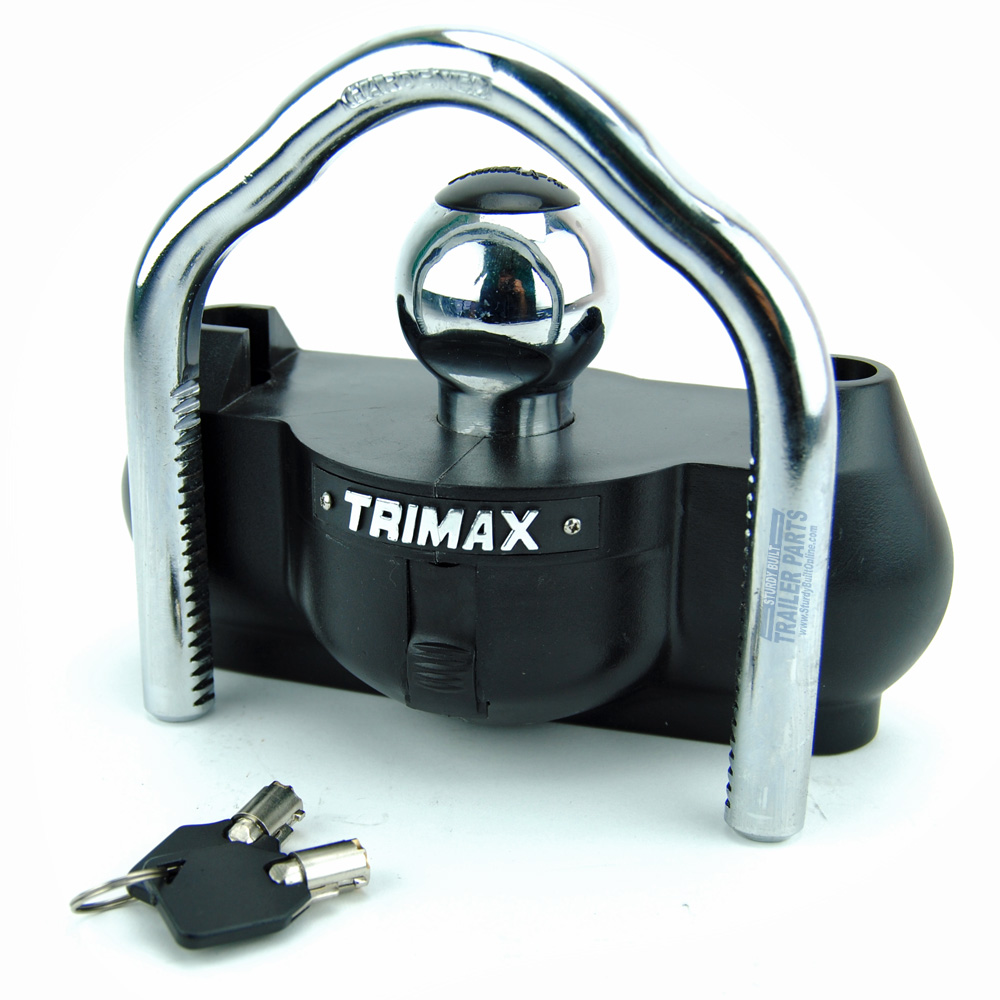 Trimax Universal Boat Trailer Coupler Tongue Hitch Lock