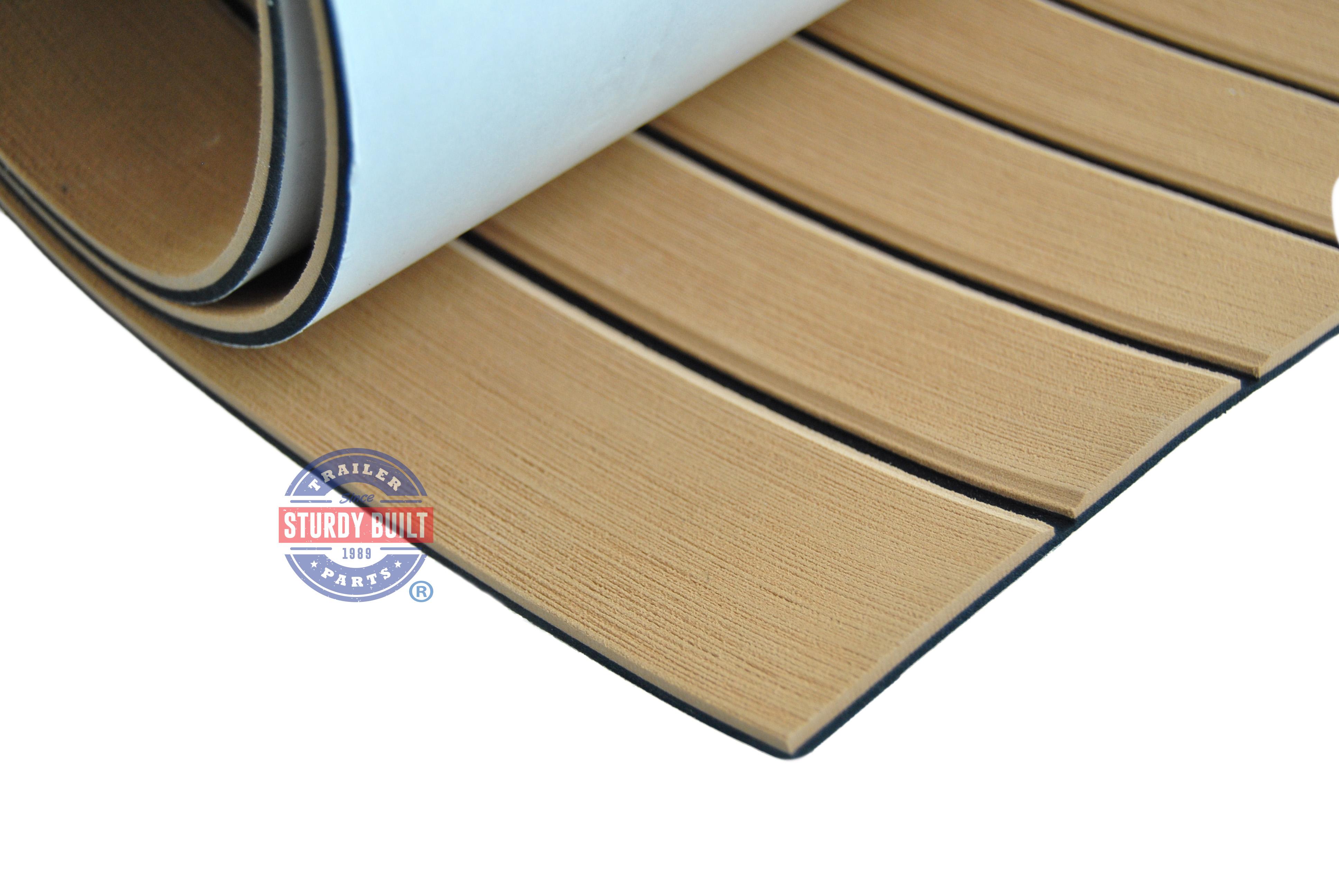 Seadek Marine Sheet Material 39 Inch X 77 Faux Teak Mocha Boat Mat Non Skid
