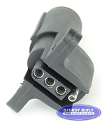 6 Pin Round to 4 Flat Trailer Adapter