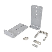 (2) 10 inch Heavy Duty Boat Trailer Bunk Bracket Aluminum L-Type Kit For 3x3 Boat Trailer Cross Members
