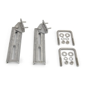 (2) Bunk Bracket Swivel Top 10 inch All Aluminum Kit for Bunk Boards