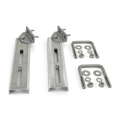 (2) Bunk Bracket Swivel Top 12 inch All Aluminum Kit for Bunk Boards