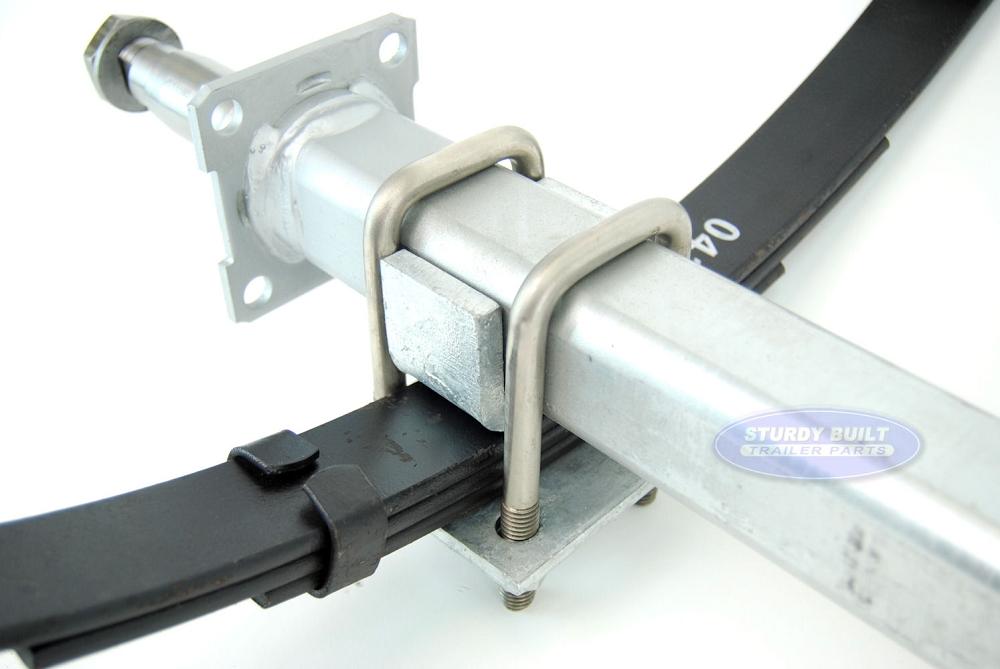 3500 lb 86.5 inch Dexter Galvanized Trailer Axle with Brake Flange