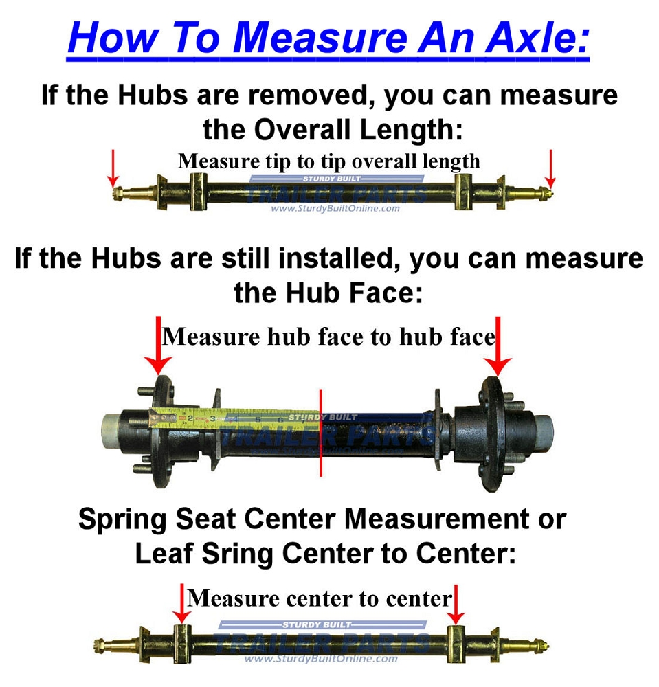 Trailer Axle Sizes : Lb capacity trailer axle quot hub face spring seat