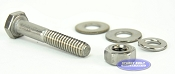 3/8 inch Diameter by 1 1/2 inch Long Stainless Steel Bolt