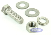 3/8 inch Diameter by 1 1/4 inch Long Stainless Steel Bolt