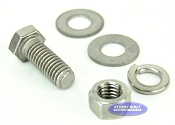 3/8 inch Diameter by 1 inch Long Stainless Steel Bolt