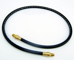 Boat Trailer Rubber Flexible DOT Brake Hose 40 inch Male Inverted Flare