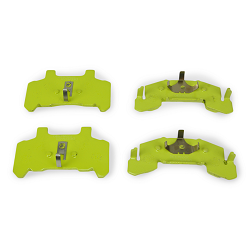 DeeMaxx Trailer Disc Brake Pad Set for 3-6k Calipers Yellow Painted