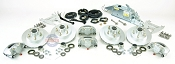 Boat Trailer Disc Brake Kit Tandem Axle Complete with Titan Model 60 Actuator