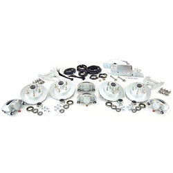 Boat Trailer Disc Brake Kit Tandem Axle Complete with Demco Model DA66B (6,000lb) Actuator