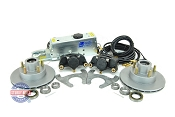 Tie Down 9.6 inch Vented Integral Single Axle Disc Brake Kit w/ Actuator