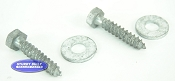 (PAIR) - 5/16 x 1 1/2  Galvanized Lag Screws for Swivel Top Bunk Bracket