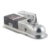 2 inch Ball x 2.5 inch Wide Lever Lock Trailer Coupler