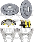 DEEMAXX Stainless Steel Calipers with Maxx Coated Rotors 5Bolt SlipOn
