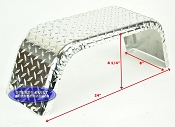 Aluminum Diamond Plate Boat Trailer Fender Single 8 x 24 x 8 1/4in