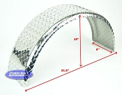 Boat Trailer Fender Round Aluminum Diamond Plate Single 9 x 31 x 15in