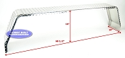Aluminum Diamond Plate Square Trailer Fender Tandem 10 x 68 x 16in