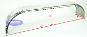Aluminum Diamond Plate Boat Trailer Fender Tandem Axle 9 x 60 x 15in