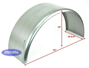 Cold Rolled Steel Utility Trailer Fender Single 10 3/4 x 32 x 16 in