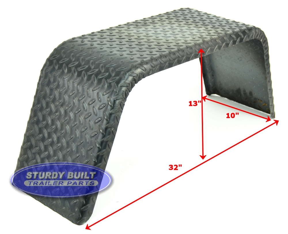 Steel Diamond Plate Utility Trailer Fender Single Axle 10 X