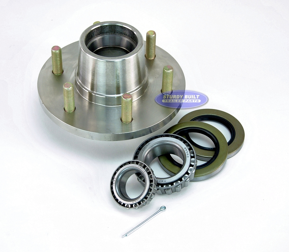 Stainless Steel 6 Lug Boat Trailer Hub With Bearings For