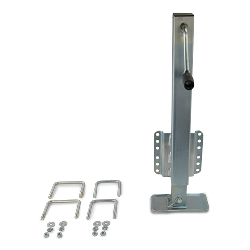 2,500lb Capacity Square Zinc Plated Dropfoot Trailer Jack with U-bolt Mounting Hardware