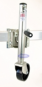 Trailer Bolt On Swivel Jack 1000lb Capacity Zinc Plated with Wheel