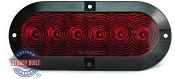 LED Red Oval Trailer Light Surface Mounted Standard 6 inch