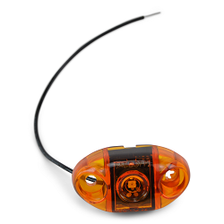 Boat Trailer Side Marker Light, TecNiq S21 Amber Submersible LED