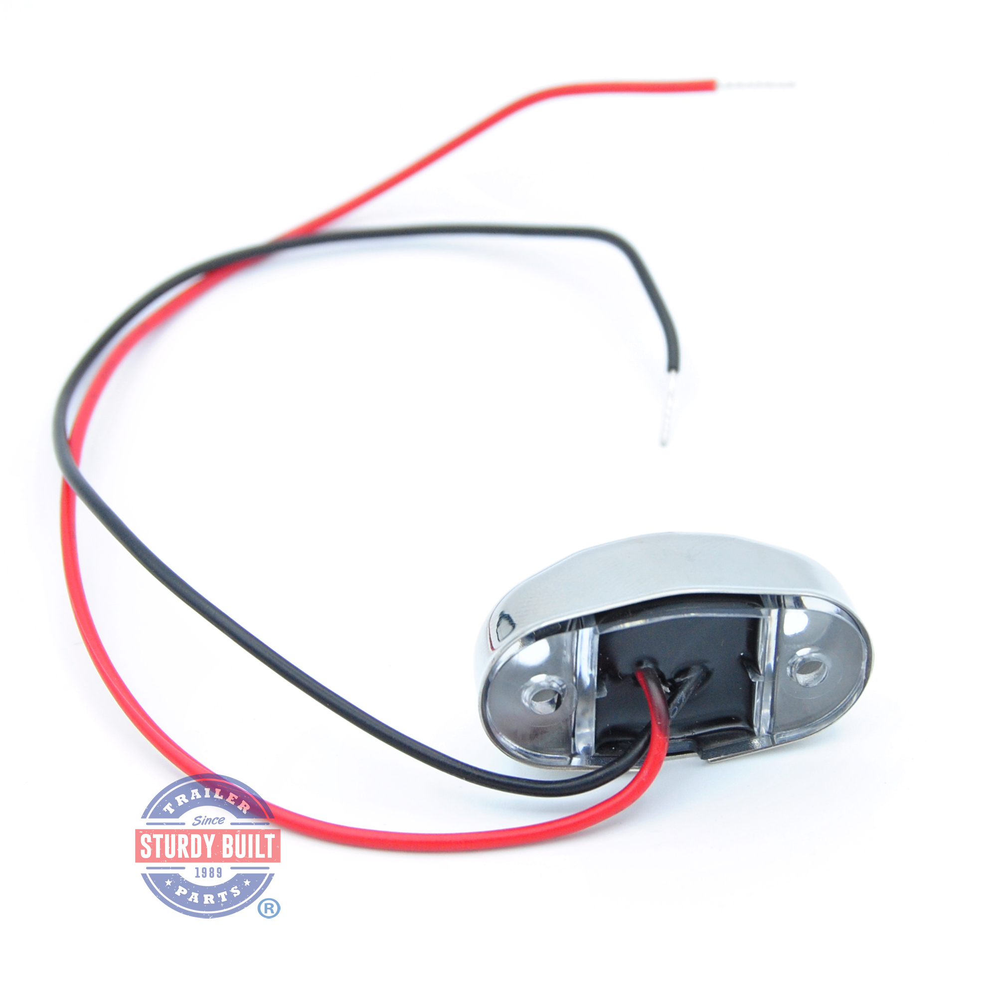 Led Red Boat Light Oval Accent With 4 Leds Stainless Steel Housing Return From Wiring A Trailer To Trailers By D14 R000 1 0s00