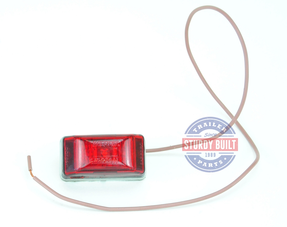 Side Marker Light Led Red Submersible Single Stud Wiring A Trailer With Lights Categories