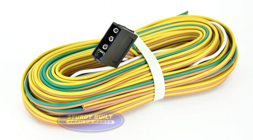 Trailer Light Wiring Harness 4 Flat 35ft To Re