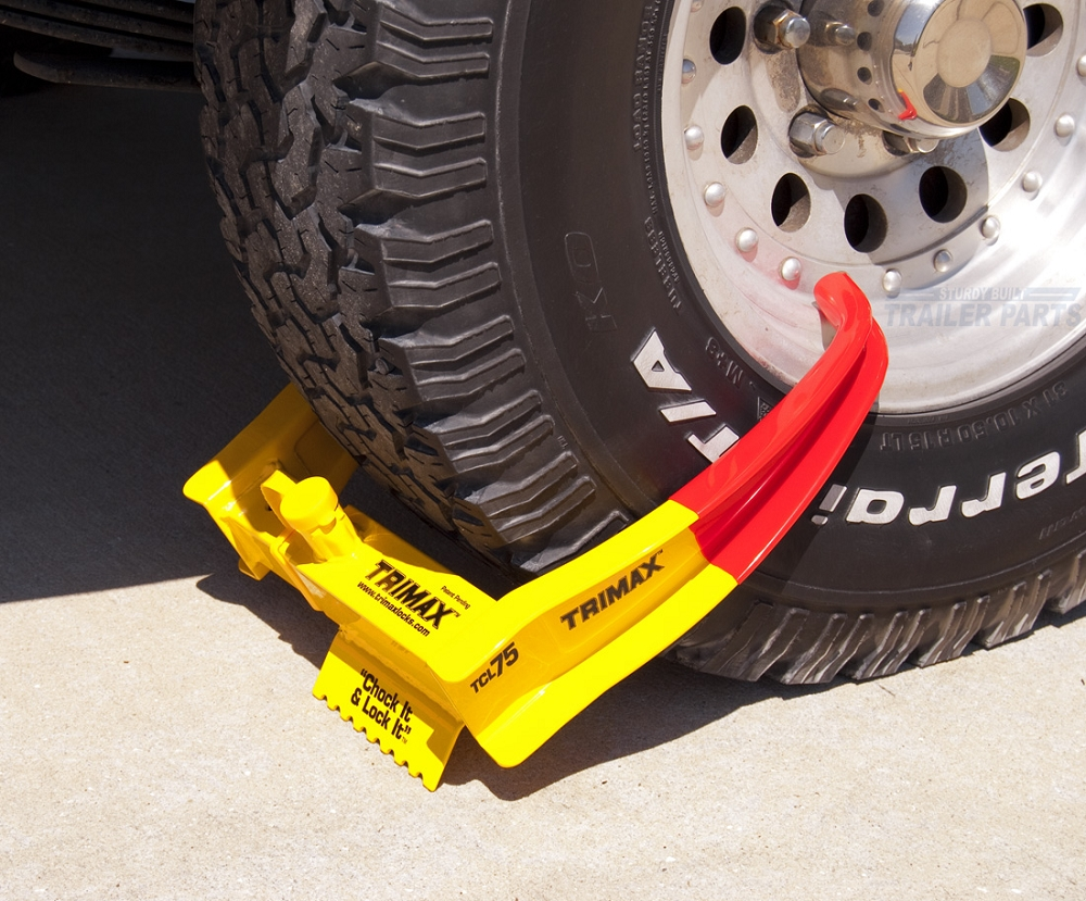 Boat Trailer Wiring >> Trimax Trailer Wheel Lock Chock Security Boot Clamp TCL75
