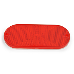 Trailer Side Marker Reflector Red Oblong Oval