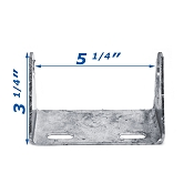 5 1/2 inch Galvanized Tongue Roller Bracket