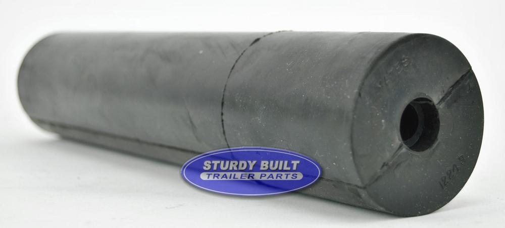 12 Inch Black Rubber Straight Roller 5 8 Inner Diameter