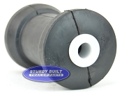 5 inch Black Rubber Keel Boat Roller Heavy Duty