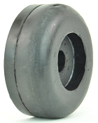 3.5 inch rubber roller end cap with 5/8 Inner Diameter